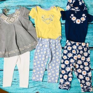 Baby Girl Clothing Bundle 3 Outfits